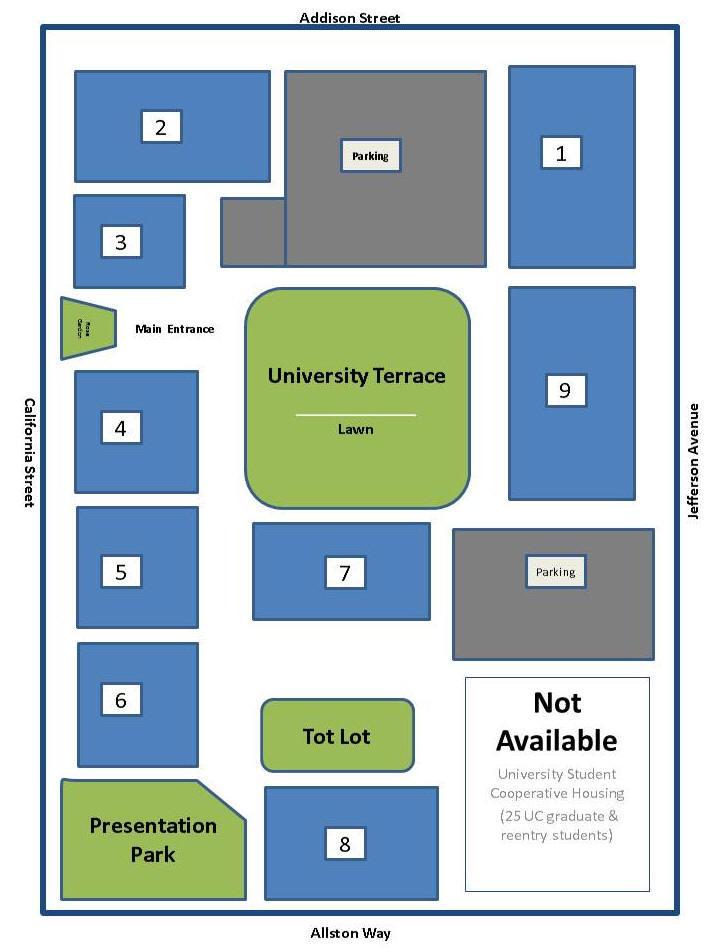 University Terrace Site Map
